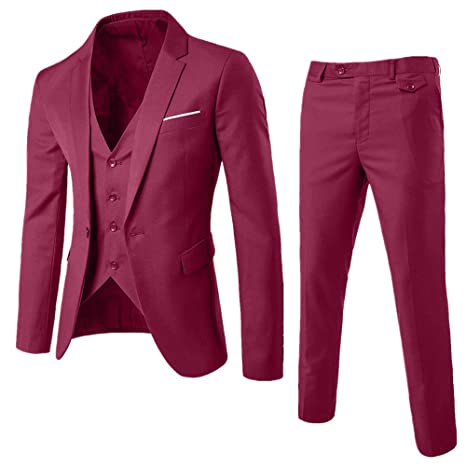 Black Friday Sales 2018 Clothes GOVOW Wedding Party Jacket Vest & Pants For Men Suit Slim 3-Piece Suit Blazer Business