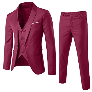 conqueror Costume 3 pièces Costume Blazer Business Costume Trois-pièces  Veste +Gilet +Pantalon 4ea016a6615