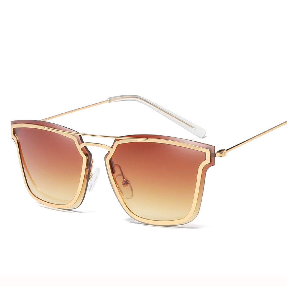 Wkaijc Trend Metall Damen Mode Persönlichkeit Kreativität Lässig Bequem Sonnenbrillen Sonnenbrillen,D