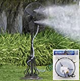 CC Home Furnishings Outdoor Garden Patio Fan Water Misting Kit