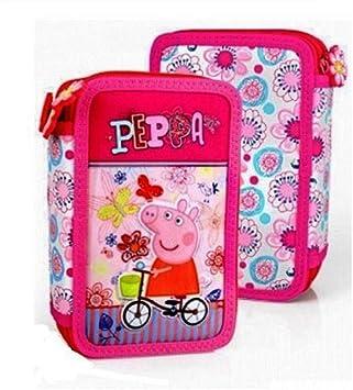 INACIO Astuccio 3 Zip Peppa Pig 3D Colore Rosa 44 PZ: Amazon.es: Juguetes y juegos