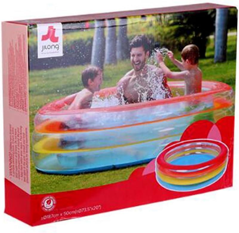 Bañeras con Jacuzzi Hinchable Piscina Espesar Familia Grande Ducha Piscina de Aislamiento Baño Hinchable para Adultos Baño Inflable para niños Piscina (Color : Clear, Size : 50 * 187cm): Amazon.es: Hogar