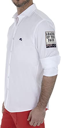 Altonadock PV18275020646 Camisa Casual, Blanco, Small (Tamaño ...