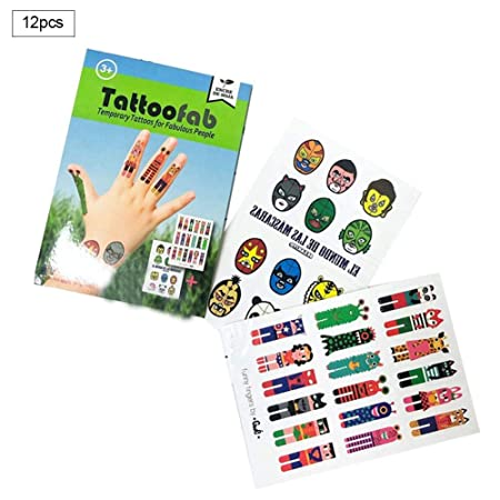 Beesuya Etiqueta Engomada del Tatuaje del Niño Tatuajes Temporales ...