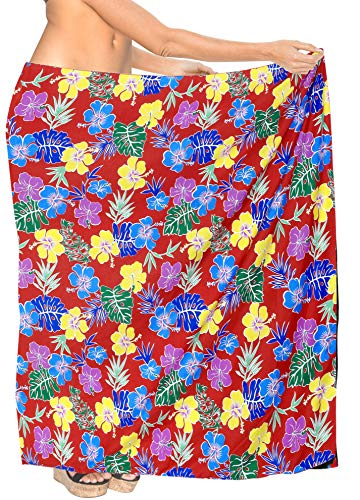 LA LEELA weiches Licht verschleiern Badeanzug gedruckt Damen Sarong