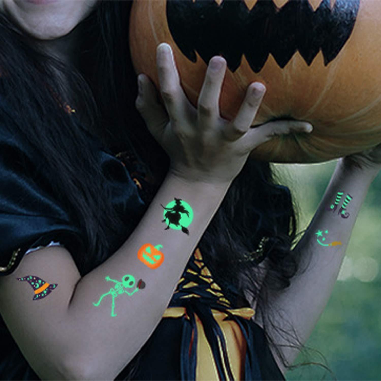 Los Tatuajes De Halloween Nano AB Pegamento Material Noche ...