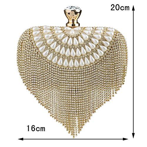 Chain Wedding Handbags Purse Diamonds Bags Bag Ym1037black Shoulder Evening Party Small qxwIFaCB