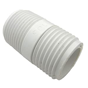 LASCO 15-1633 PVC Hose Adapter with 3/4-Inch Male Hose Thread and 3/4-Inch Male Pipe Thread