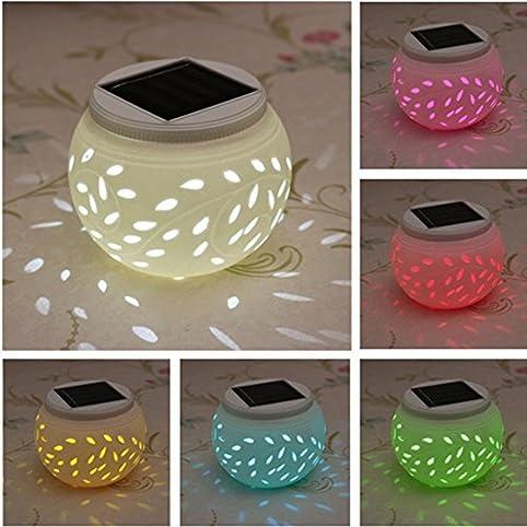 Ceramic Solar Light,SOLMORE LED Solar Ceramic Table Lights,Garden Lights,Filigree  Lights