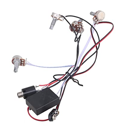 amazon com: bqlzr 2 band active eq preamp circuit for bass guitar with output  jack: musical instruments
