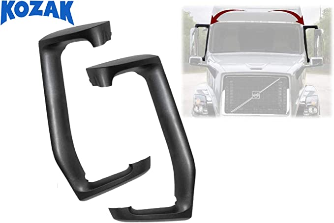 Only for Volvo VNL 2004-2020 Models Truck Replacement Parts KOZAK Aftermarket Replacement Aerodynamic Side Mirror Plastic Arm Cover Right Passenger Side