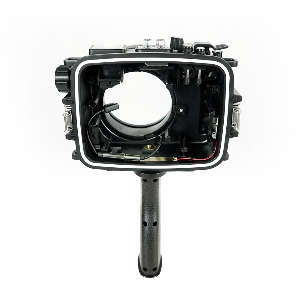 SeaFrogs 60M/195FT Waterproof housing A6xxx series Salted Line (Black) with pistol grip For Sony a6500 a6300 by KitDive (Image #4)