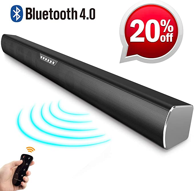 Soundbar For Tv Devices 2 Tweeters Bluetooth Speakers And 4 Speakers With Remote Control Surround Sound Heavy Bass High Sound Quality Home Cinema Party Music Bürobedarf Schreibwaren