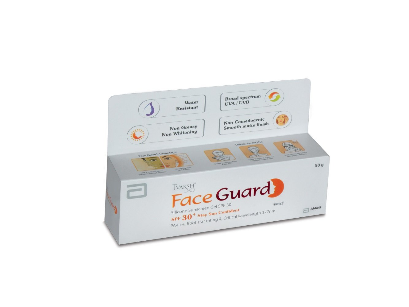 Tvaksh Face Guard Silicone Sunscreen Gel SPF 30, 50g product image