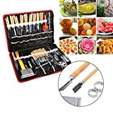 Culinary Carving Tool Set, 80pcs Portable Stainless Steel Food Vegetable Fruit Garnishing Cutting