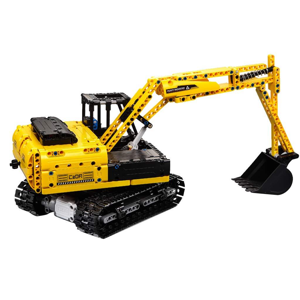 B Blesiya Modello Tank  Escavatore Radiocomandato RC   all-Terrain Car Simulation Remote Control Toy per Sviluppo Intelligenza dei Bambini - 544pcs - Escavatore