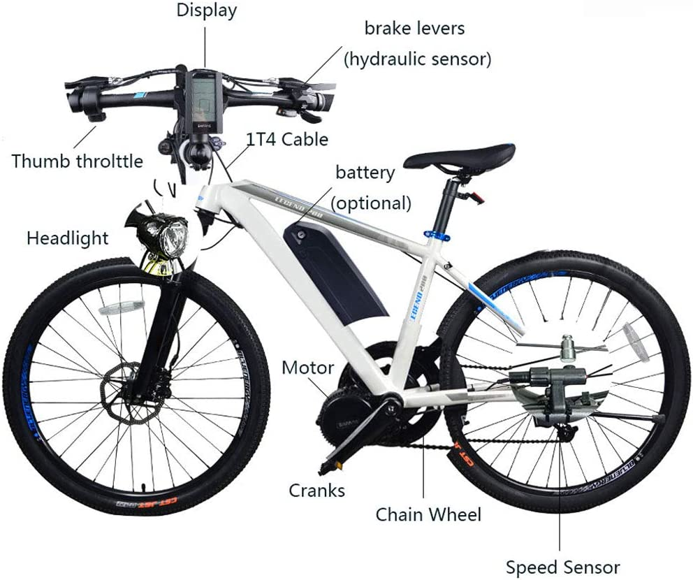 Bicycle Conversion Kit Crank Bike Bottom Bracket kit ALL SIZES Black