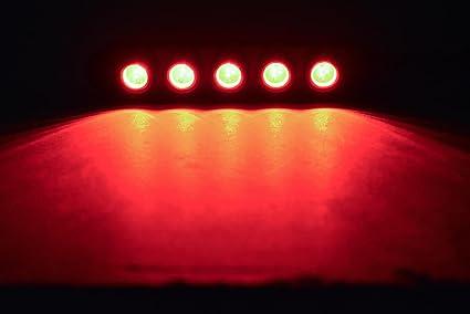Morimoto LED-MC-5TOP Black 5Stop Motorcycle Universal LED Brake Light