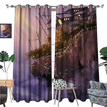 Amazon Com Blountdecor Fantasy Room Darkening Wide Curtains Old