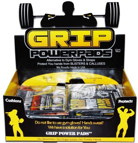 20 Pairs of Classic Lifitng Grips by Grip Power Pads with Display Box by Grip Power Pads