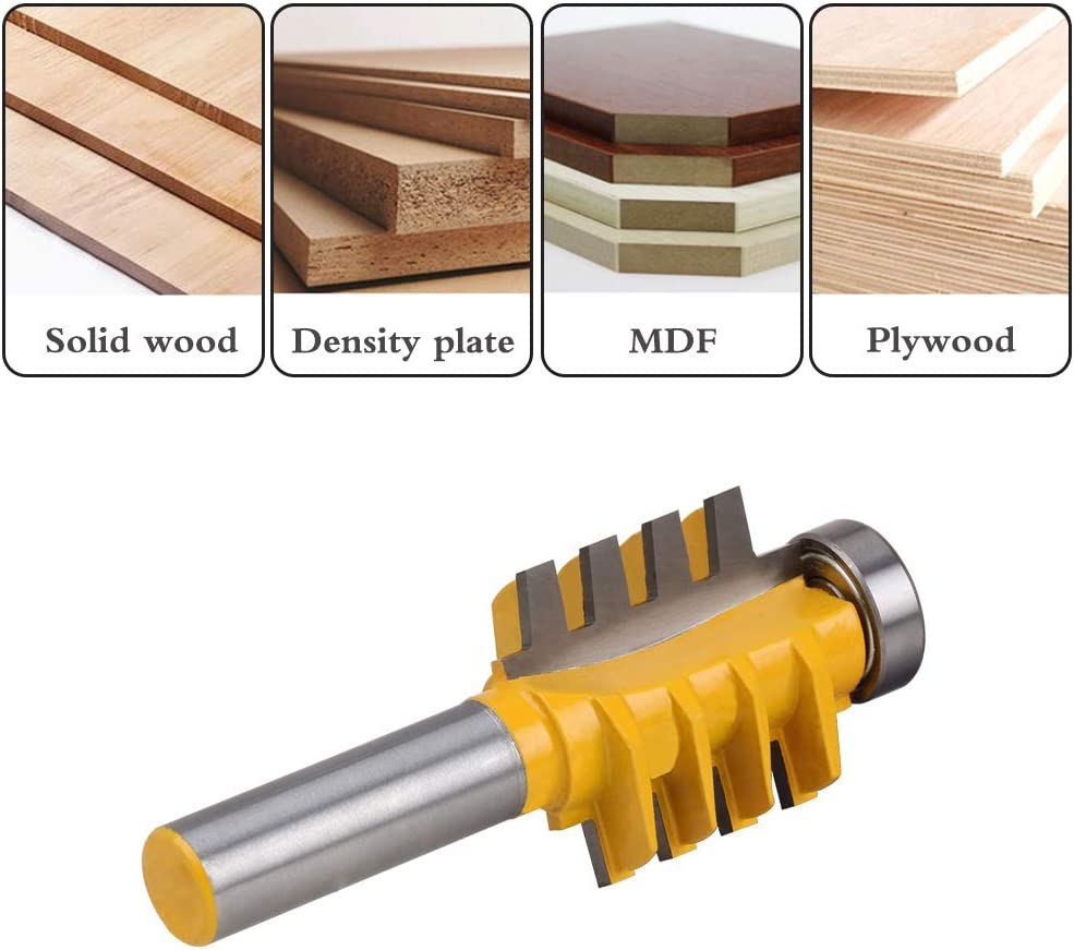 YKLP Reversible Finger Joint Glue Joint Router Bit with 1//2 Shank for Woodworking