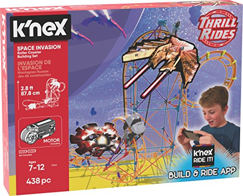 K'NEX Thrill Rides – Space Invasion Roller Coaster Building Set with Ride It! App – 438Piece – Ages 7+ Building Set JungleDealsBlog.com