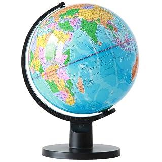 Globo 25 cm Diametro Geografia Insegnante Aula Presentazione Colletto Bianco Sala Studio Decorazione Carta Chiara e accurata GYB