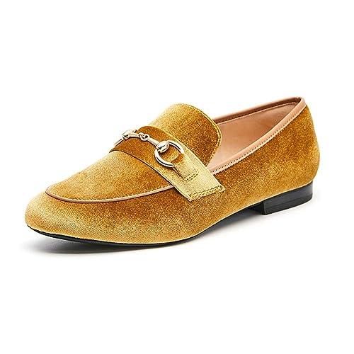YXX-Zapatos para mujer Calzado con Punta Redonda de tacón bajo para Mujer, con