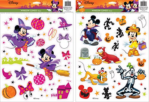 Disney Mickey & Minnie Window Cling (Window Halloween)