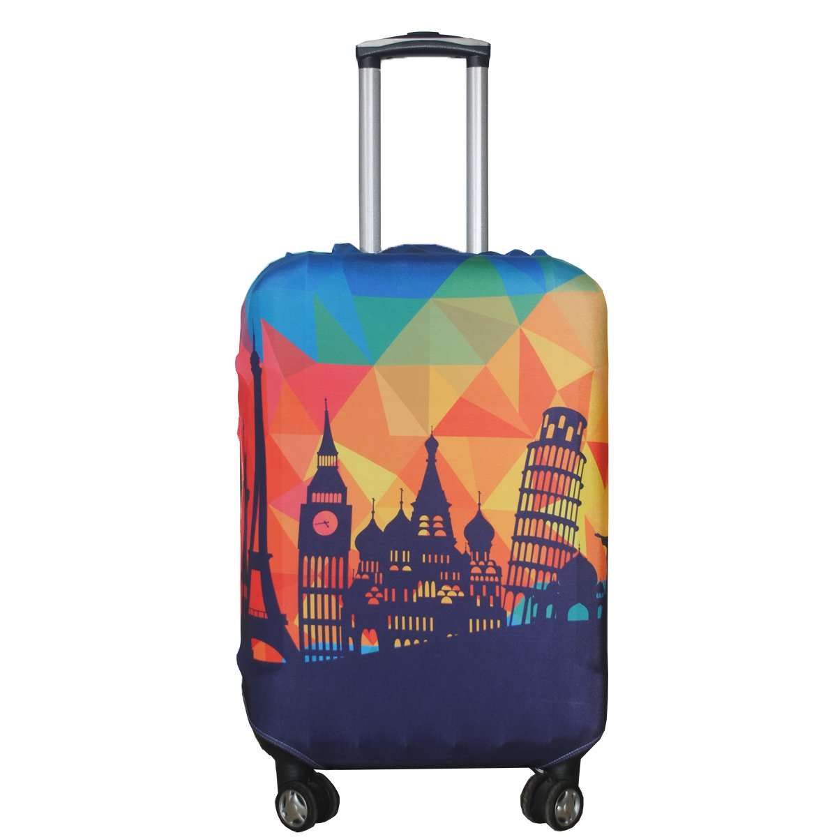 Explore Land Travel Luggage Cover Suitcase Protector Fits 18-32 Inch Luggage (Polkadot, M(23-26 inch luggage)) 10408002