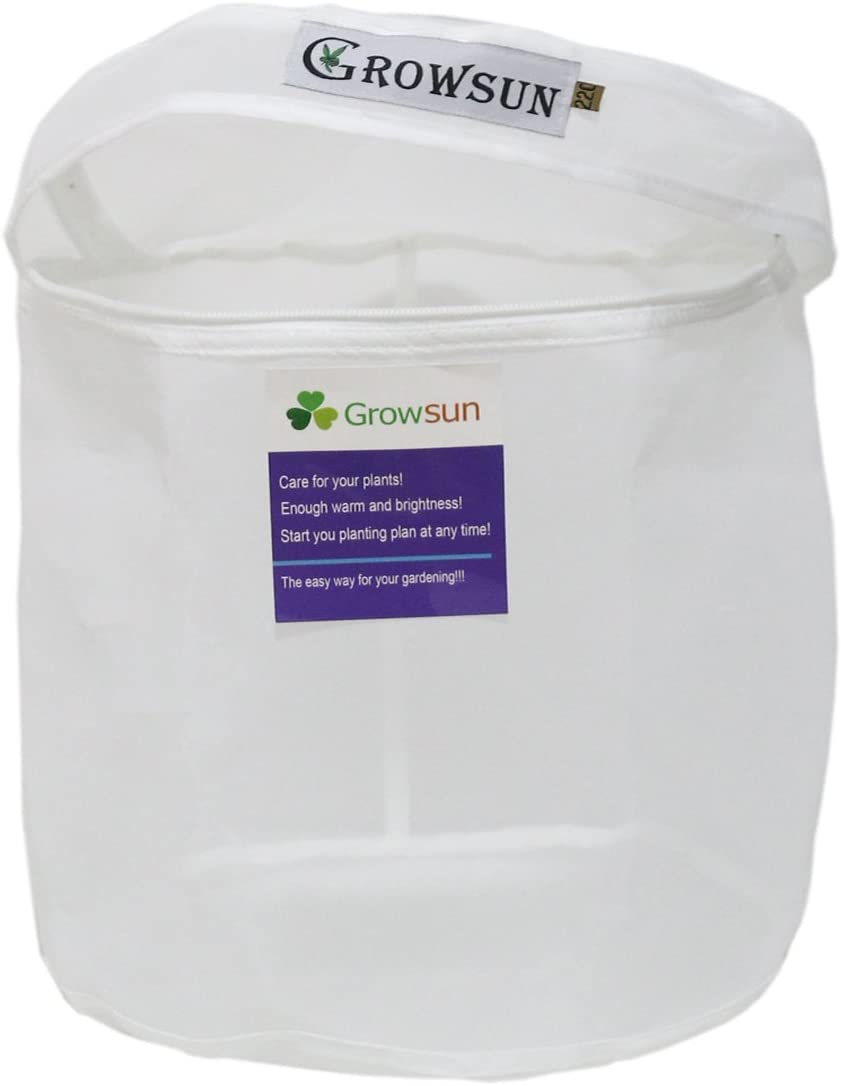 Growsun 220 Micron 20-Gallon Zipper Bag for Herbal Extracting Washing Machine