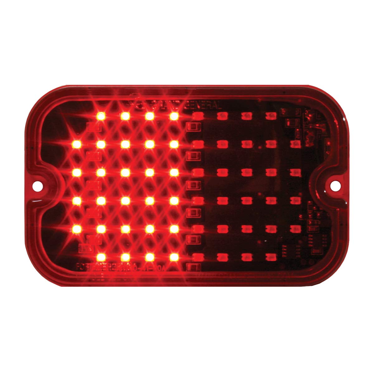 Rectangle Red Multi-Strobe 56, 15 Flash Pattern GG Grand General 81745 LED Light