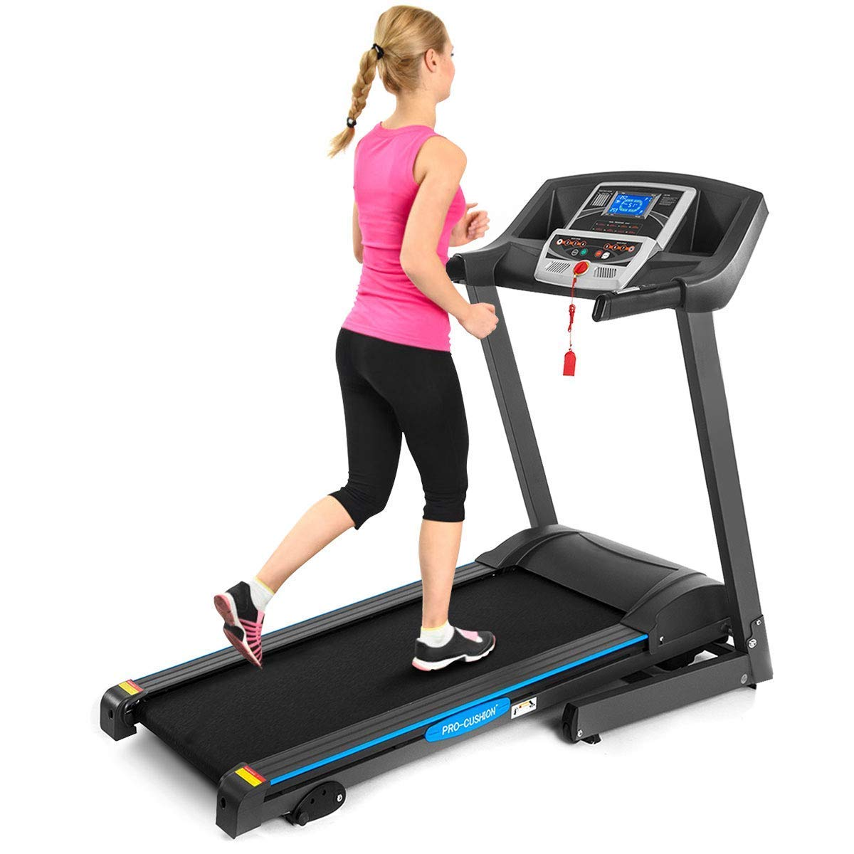 GYMAX Electric Folding Cardio Exercise Treadmill Fitness Jogging Running Machine Treadmill w Manual Incline