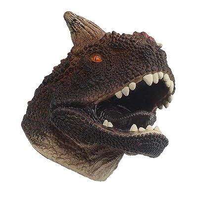 DANNTARA Dinosaur Realistic Soft Hand Puppet Toy for Kids - Raptor, T-rex, Triceratops, Carnotaurus, Dilophosaurus, Spinosaurus (Carnotaurus): Toys & Games [5Bkhe0202989]