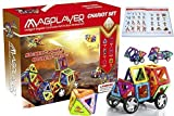 Ladybugkids MagPlayer Magnetic Tiles Blocks Chariot Play Set, 66 Piece