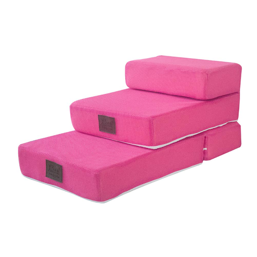 3 steps Pet steps Pet stairs Pet Stairs Combination 23 Steps for Dogs Bed Cat Steps Removable Washable Cover for Cats Dogs up to 13kg (Size   2 steps)