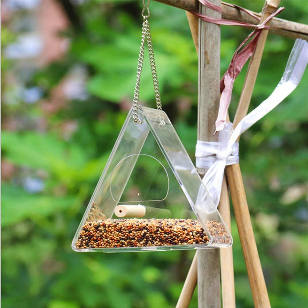 SAFETYON Window Bird Feeder Birdhouse Hanging Bird Feeder 2in1 Functions