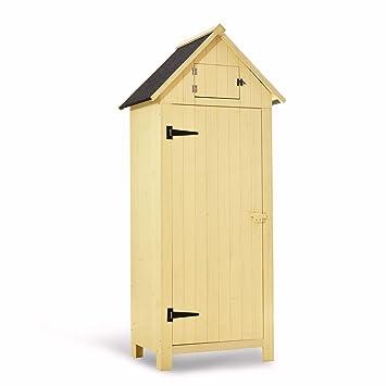 MCombo - Armario de almacenamiento para exteriores, de madera ...