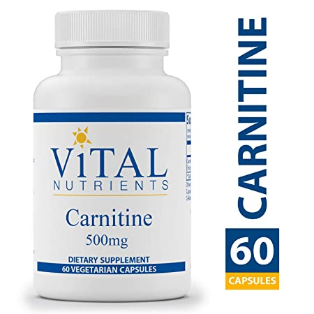 Vital Nutrients – Carnitine 500 mg – Cardiovascular and Fat Metabolism Support – 60 Capsules