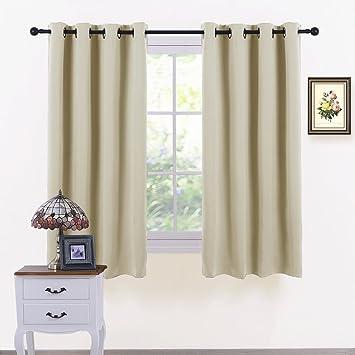 Beige Window Curtain Home Decor - PONY DANCE Top Eyelet Blackout ...