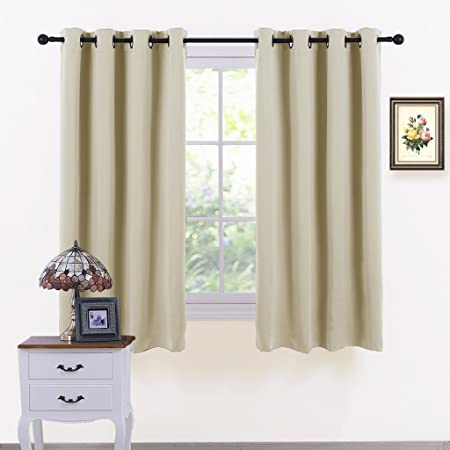 Beige Window Curtain Home Decor