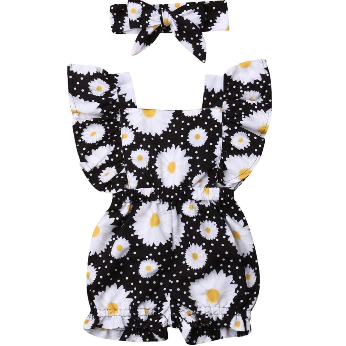 Amazon.com: Bebé recién nacido niña Floral Volantes Bowknot ...