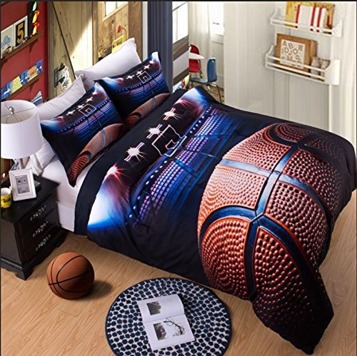 AMOR AMORE 3D Basketball Sports Comforter Sets