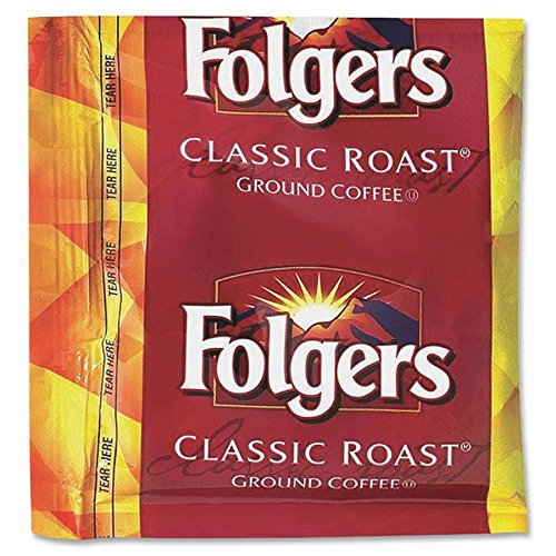 Folgers Classic Roast Ground Coffee, 0.9 Ounce (Pack of 36)