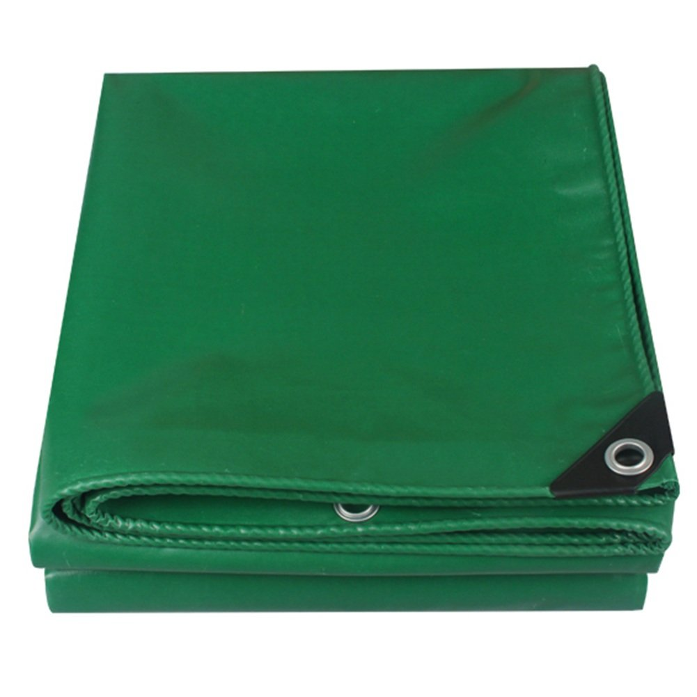 CHAOXIANG ターポリン 厚い 耐摩耗性 車 シェード 耐寒性 防水 PVC、 650G/㎡、 8サイズ (色 : Green, サイズ さいず : 3.8x3.8m) B07FZ34QNK 3.8x3.8m|Green Green 3.8x3.8m