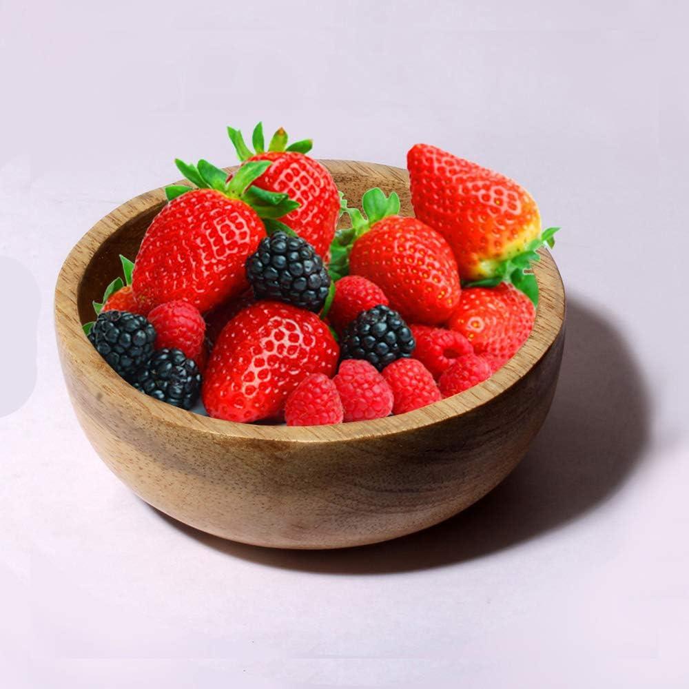 tavolo cene 4 pezzi tagliatelle per zuppe 10,16 x 10,16 x 3,81 cm leggera cereali cucina riutilizzabile Ciotola in legno picnic spuntini BHAVATU ristorante