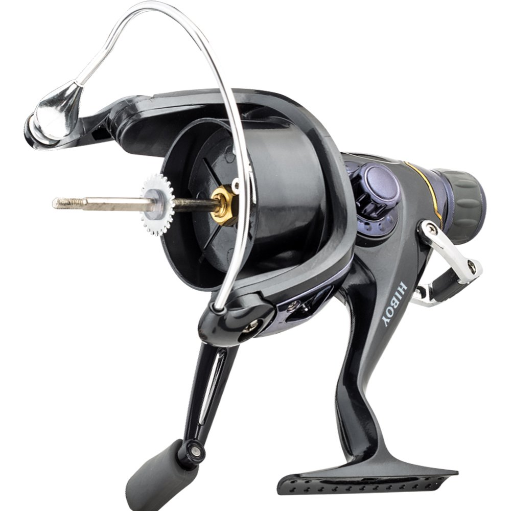 FYSHFLYER Freshwater Spinning Reel Interchangeable Left Right Handle Double Soft Knobs Metal Spool 9BB 1RB Perfect Carp Fishing Reel 1 Spare Plastic Spool