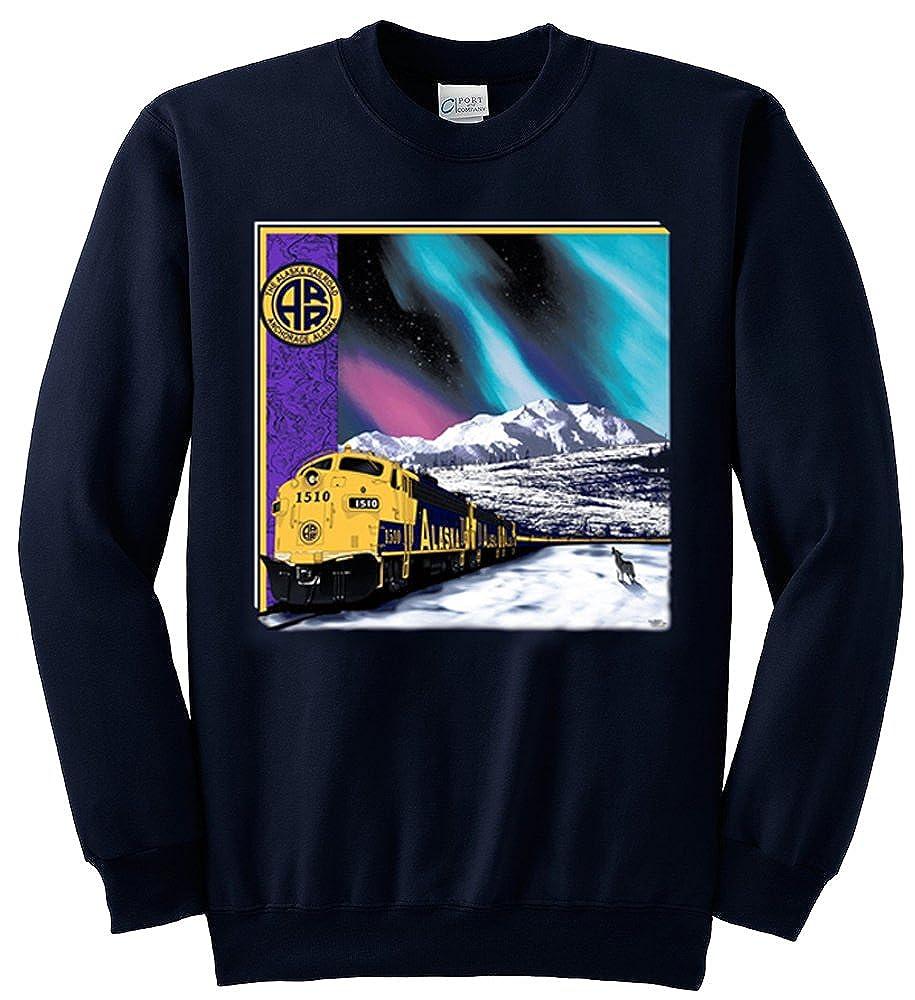 Alaska Railroad at Mt. McKinley Authentic Railroad Sweatshirt
