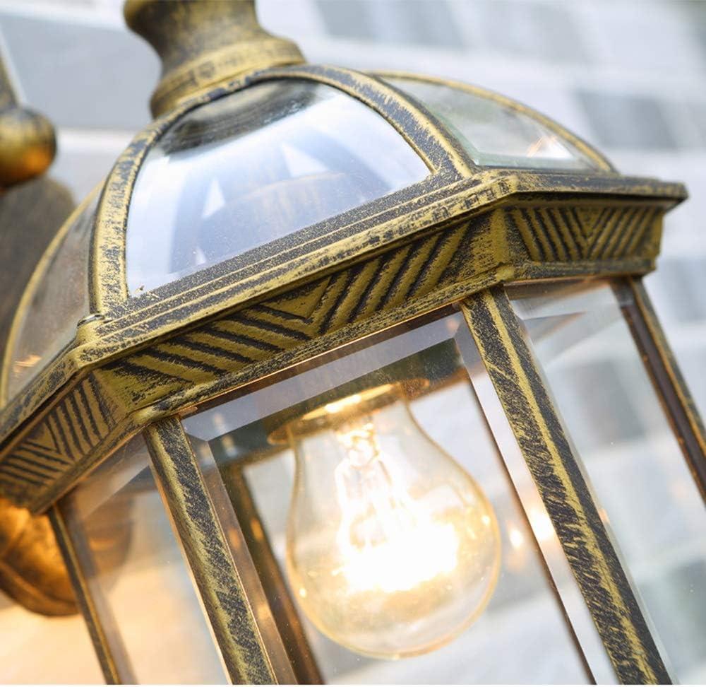 Wandlaternen | Wetterfeste Außenleuchten | Dekorativer Scroll-Sconce-Arm, überbackene Kanten & klares abgeschrägtes Glas für Veranda, Garten und Gärten LCNINGHWBD (Farbe : Schwarz) Bronze