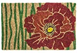Entryways Bloom, Hand-Stenciled, All-Natural Coconut Fiber Coir Doormat 18'' X 30'' x .75''